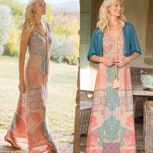 NWOT Soft Surroundings Floral Tank Maxi Dress M